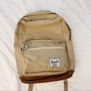 Herschel Backpack with Faux Leather Bottoms